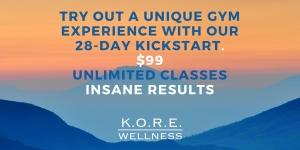 28 Day KickStart$99Unlimited Classes